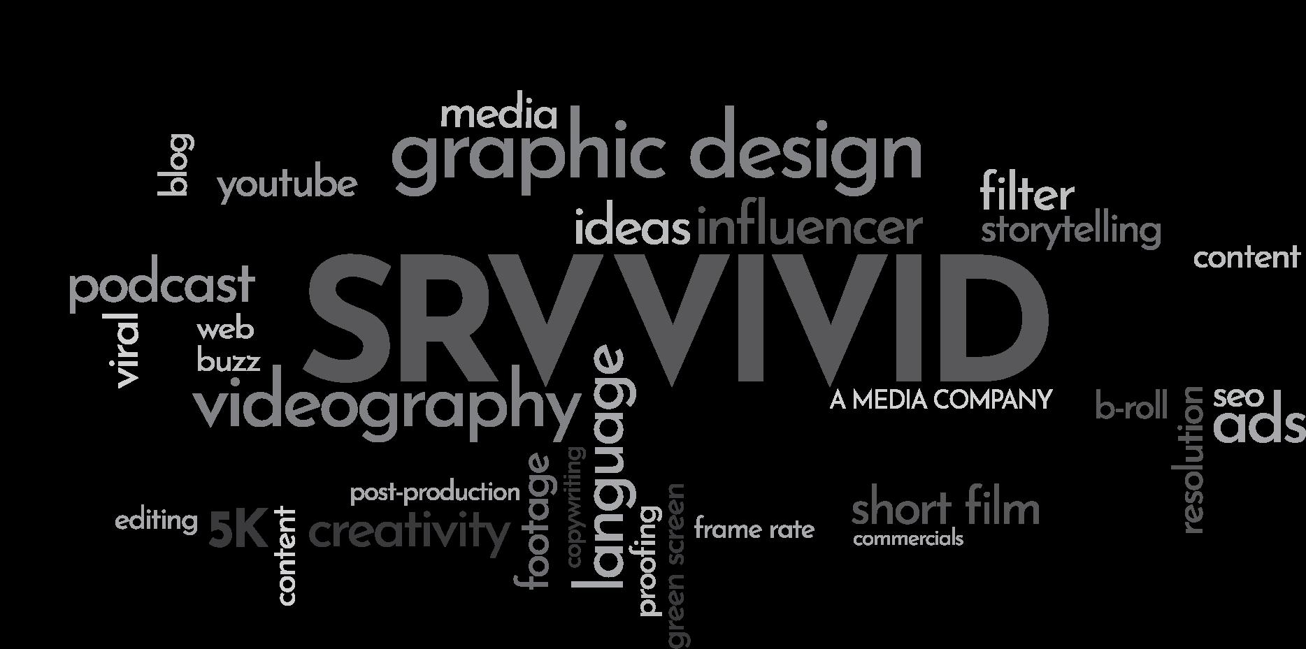 SRV Vivid Word Collage